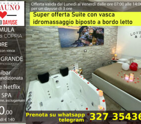 Offerta suite con vasca idromassaggio 90 euro