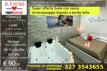Suite con vasca idromassaggio - 3 ore 90 €