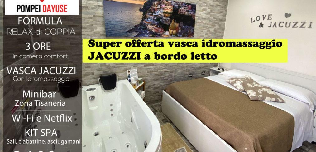 Offerta camera con vasca idromassaggio jacuzzi 100 euro