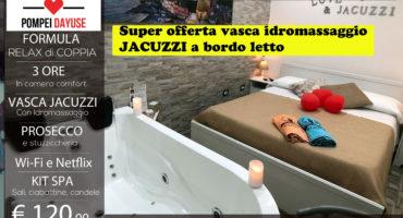 Offerta camera con vasca idromassaggio jacuzzi 120 euro