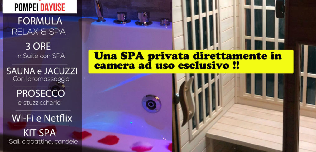 Offerta Suite con SPA privata 130 euro