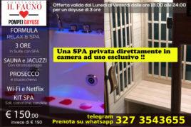 Suite con SPA privata - 3 ore 150 €