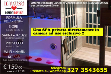 Suite con SPA privata - 3 ore 150 €
