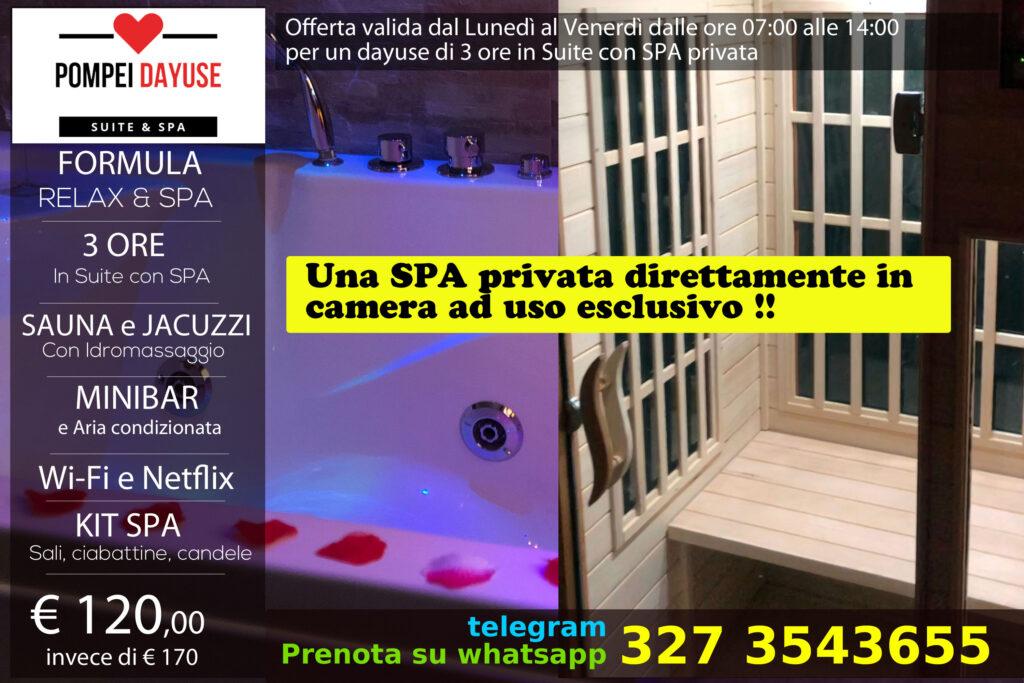 Offerta Suite con SPA privata 120 euro