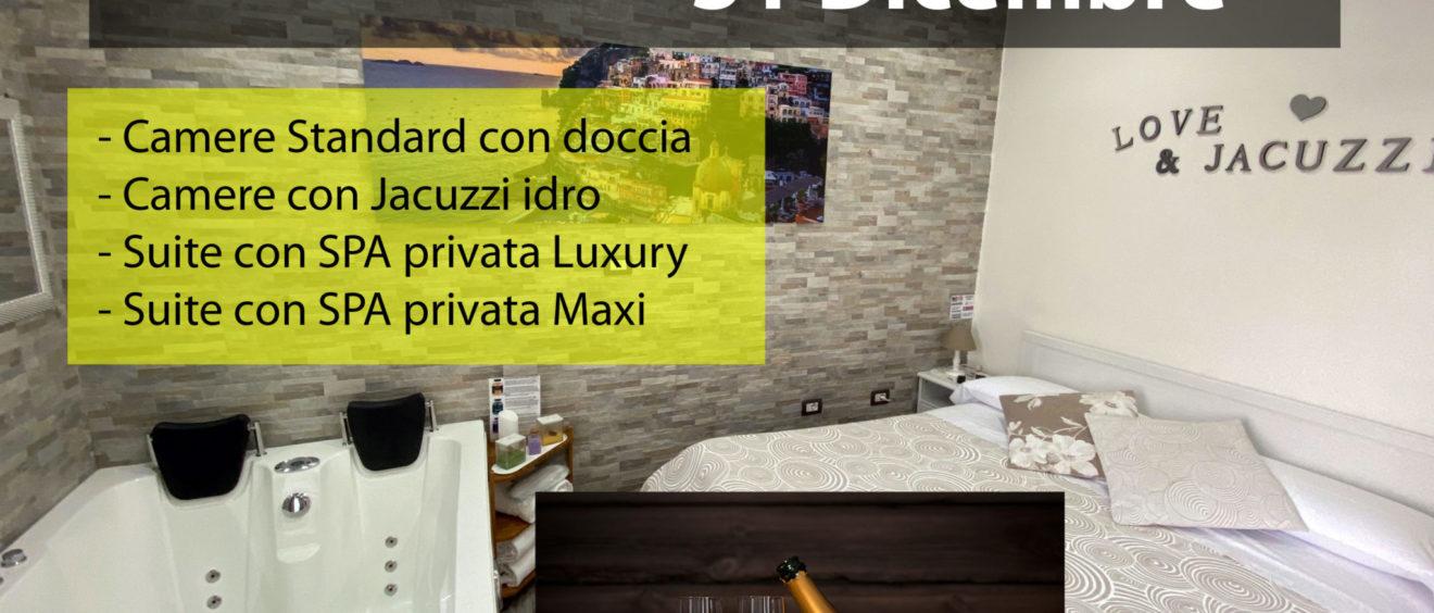 Camera con vasca idromassaggio Spa 31 Dicembre 2019 Pompei