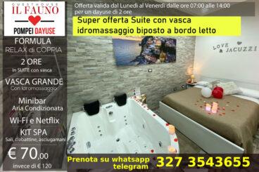 Suite con vasca idromassaggio - 2 ore 70 €