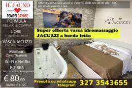 Camera con Jacuzzi - 2 ore 80 €