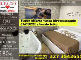 Offerta camera con vasca idromassaggio jacuzzi 80 euro