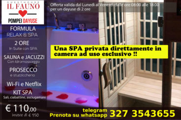 Suite con SPA privata - 2 ore 110 €