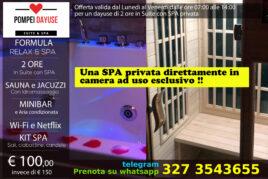 Suite con SPA privata - 2 ore 100 €