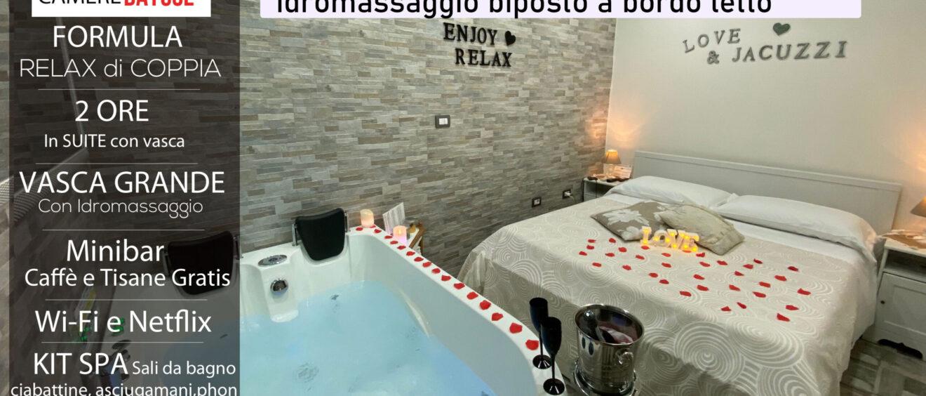 Offerta suite con vasca idromassaggio 90 euro 2 ore