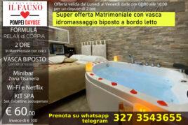 Matrimoniale con vasca idromassaggio - 2 ore 70 €