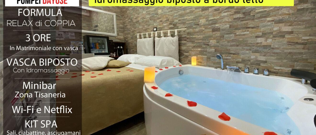 Matrimoniale con vasca idromassaggio 3 ore 80 euro