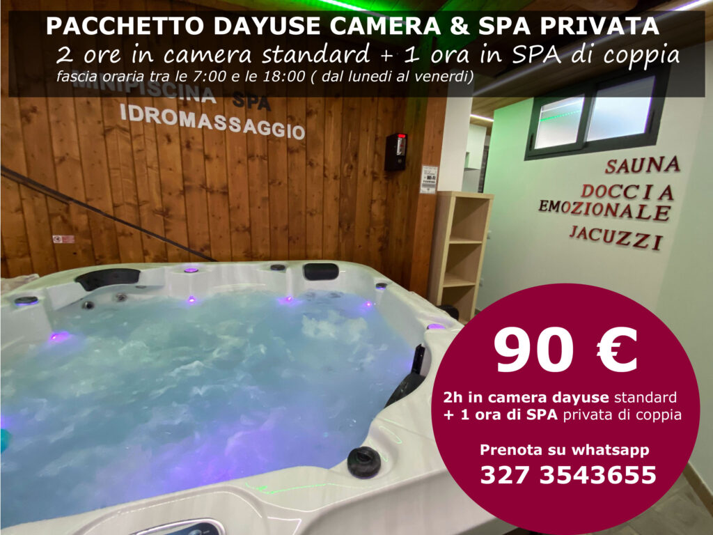 Pacchetto Dayuse Camera e Spa privata