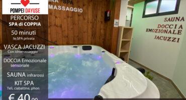Percorso spa privato di coppia Pompei 40 euro